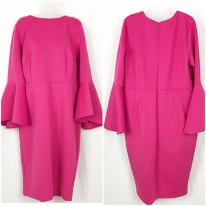 Eloquii Hot Pink Sheath Dress, 18
